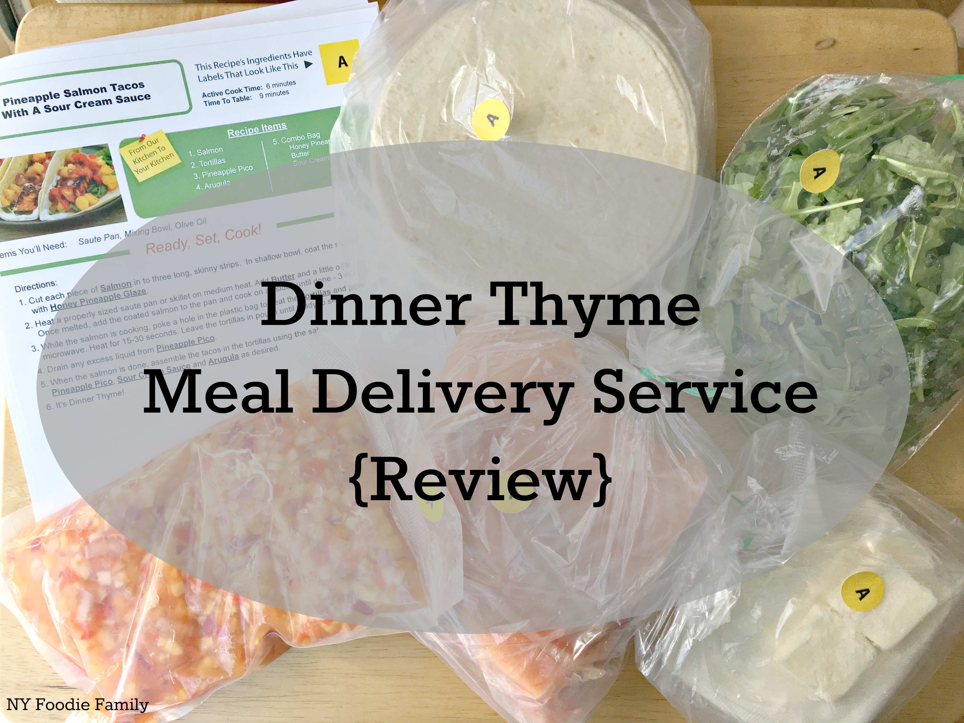 Dinner Thyme Meal Delivery Service Review NY Foodie Family