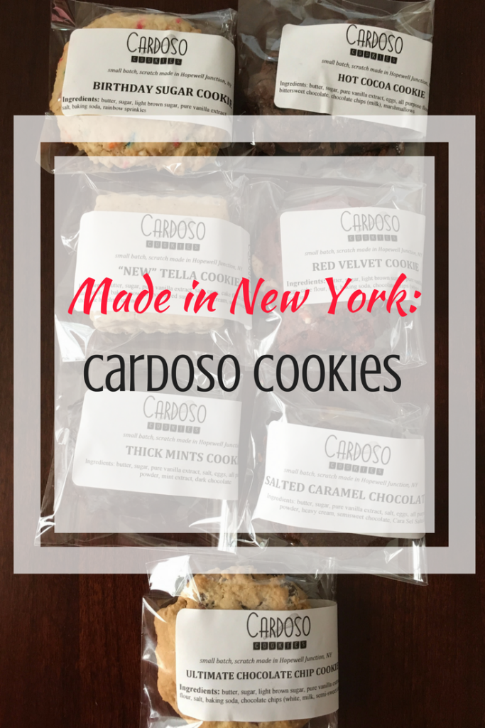 Cardoso Cookies are made locally in the Hudson Valley. Anthony Cardoso is a graduate of the Culinary Institute of America and makes his cookies with all natural ingredients.