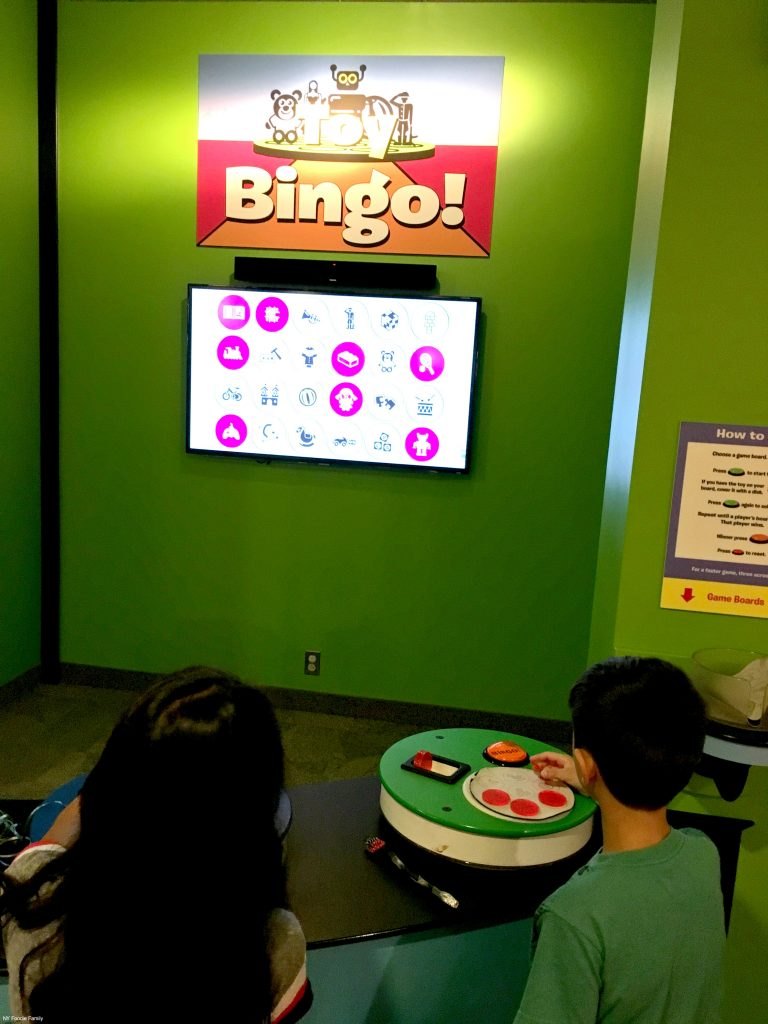 The kids loved playing electronic Bingo at the Strong Museum.