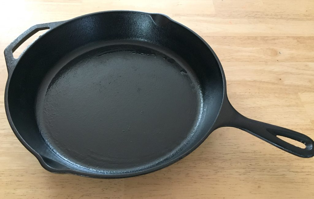 Our Cast Iron Skillet is a kitchen tool that I can't live wihout. It's able to go from stove top to oven and evenly cooks food.
