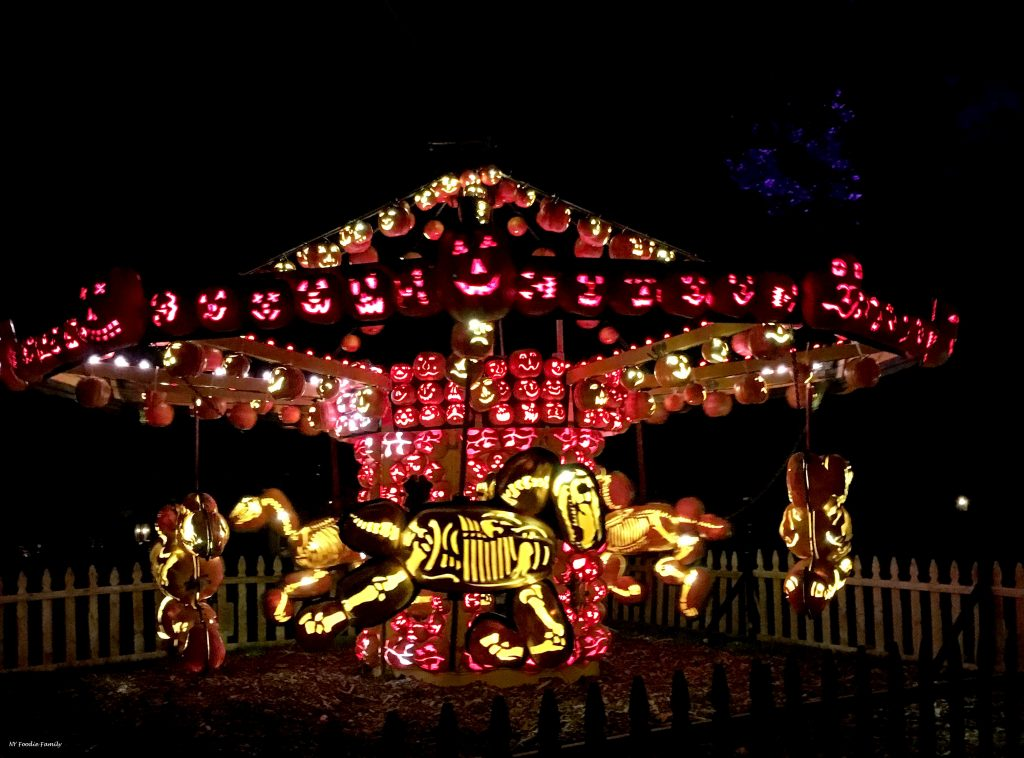 This pumpkin carousel at the 2017 Great Jack O'Lantern Blaze moved!