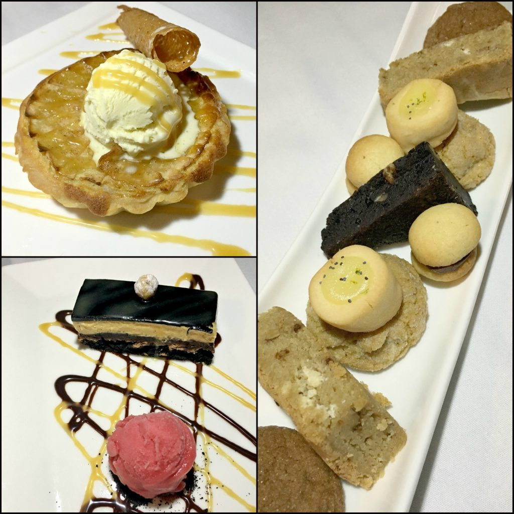 The desserts from the new fall menu at Winston Restaurant in Mt. Kisco.