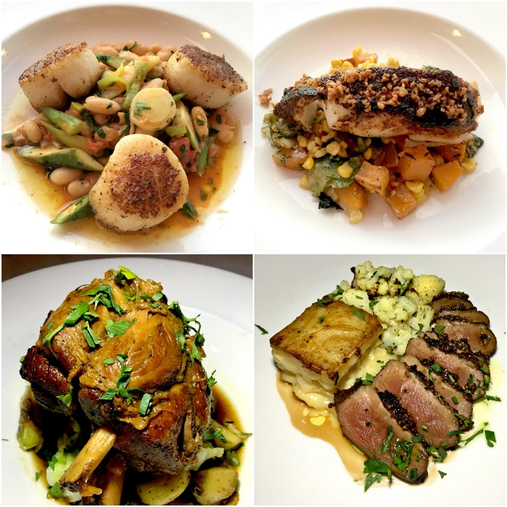 The four new entrees on the fall menu at Winston Restaurant in Mount Kisco.