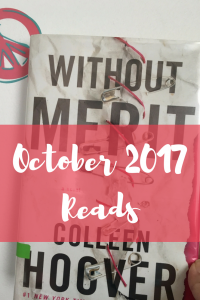 A review of my October 2017 Reads with ratings.