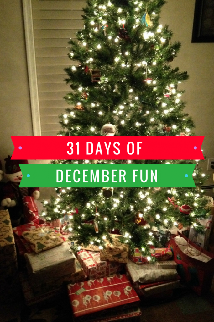 Here is a calendar of 31 days of December fun. If you are looking for some fun things to do this month I've got you covered!