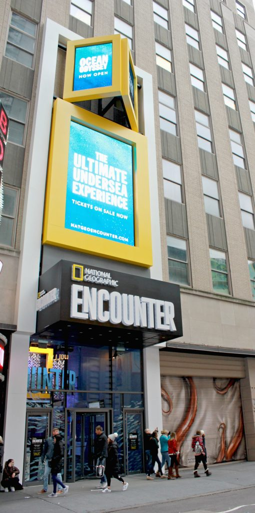 Located in Times Square in New York City, National Geographic Encounter Ocean Odyssey is a fun, family experience.