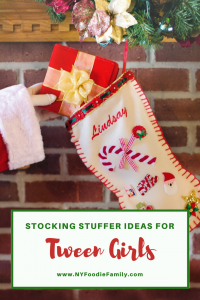 Check out this gift guide for ideas of stocking stuffers for tween girls.