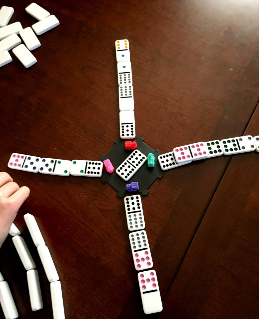 A fun domino game perfect for family game night!