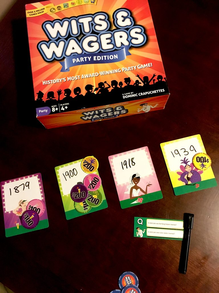 Wits and Wagers is a fun guessing trivia game for the whole family!