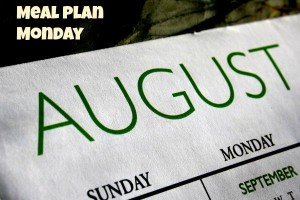 meal plan Monday August