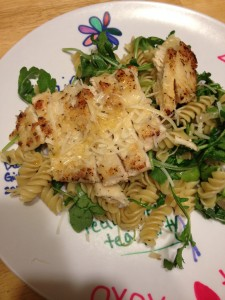 Garlicky Pasta with Tuscan Chicken