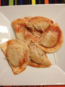 Pierogies with Tomato Sauce