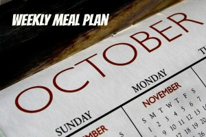 October weekly meal plan
