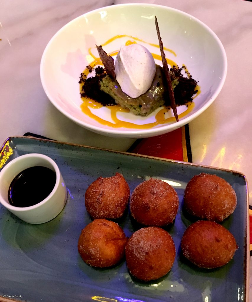 Calle Dao serves some amazing desserts like these Bunuelos and Matcha Tres Leches.