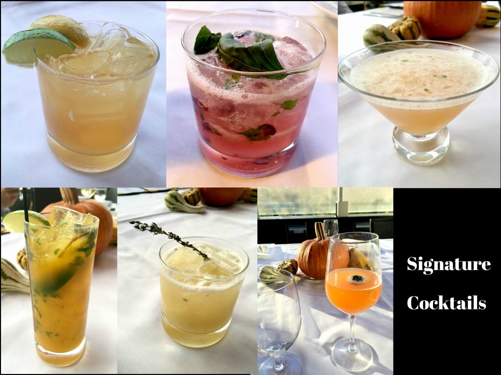 Six of the delicious signature cocktails on the Winston Restaurant fall menu.