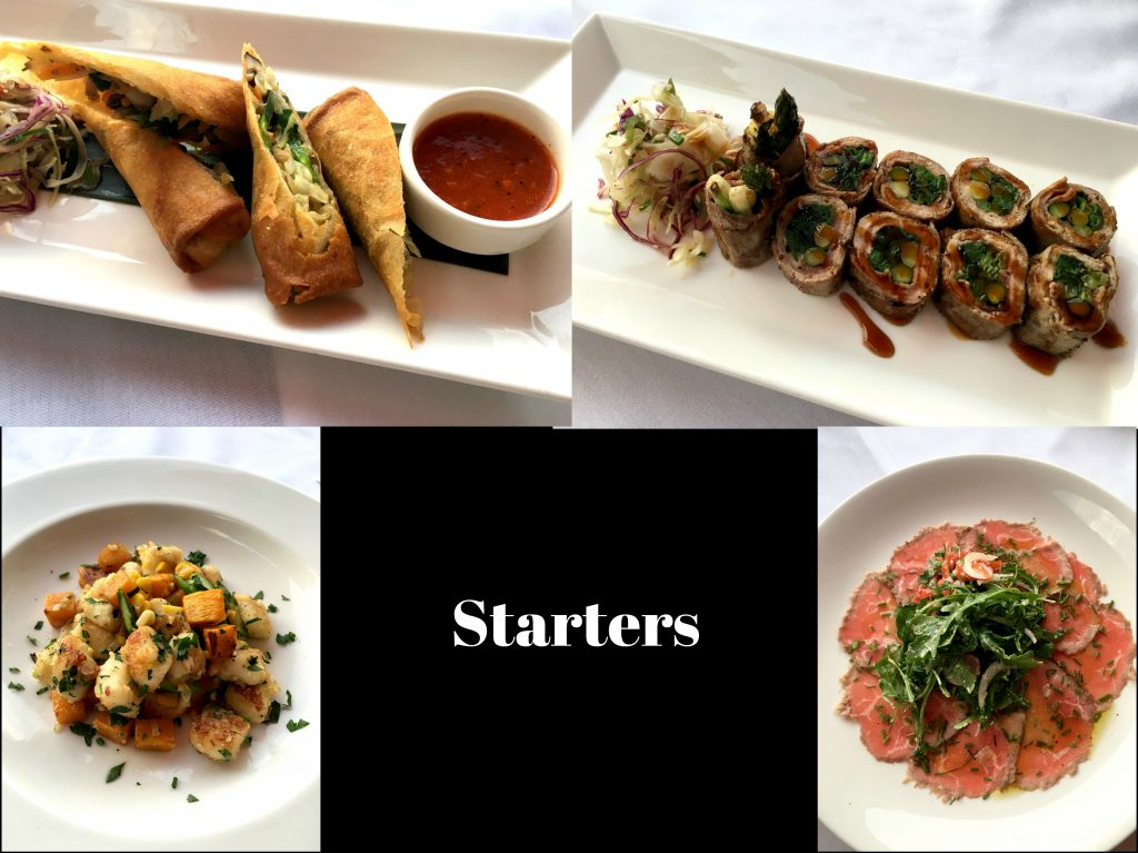 The starters on the new fall menu at Winston Restaurant in Mount Kisco.