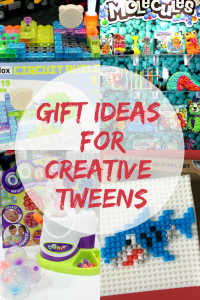 A gift guide with ideas for presents to give to creative tweens.
