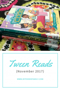 A roundup and review of the November tween reads of my two kids, ages 9 and 11.