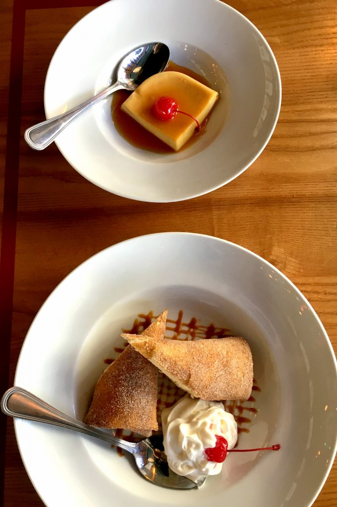 Caramel Flan and Fried Chesecake from El Balon Cantina in Yonkers.