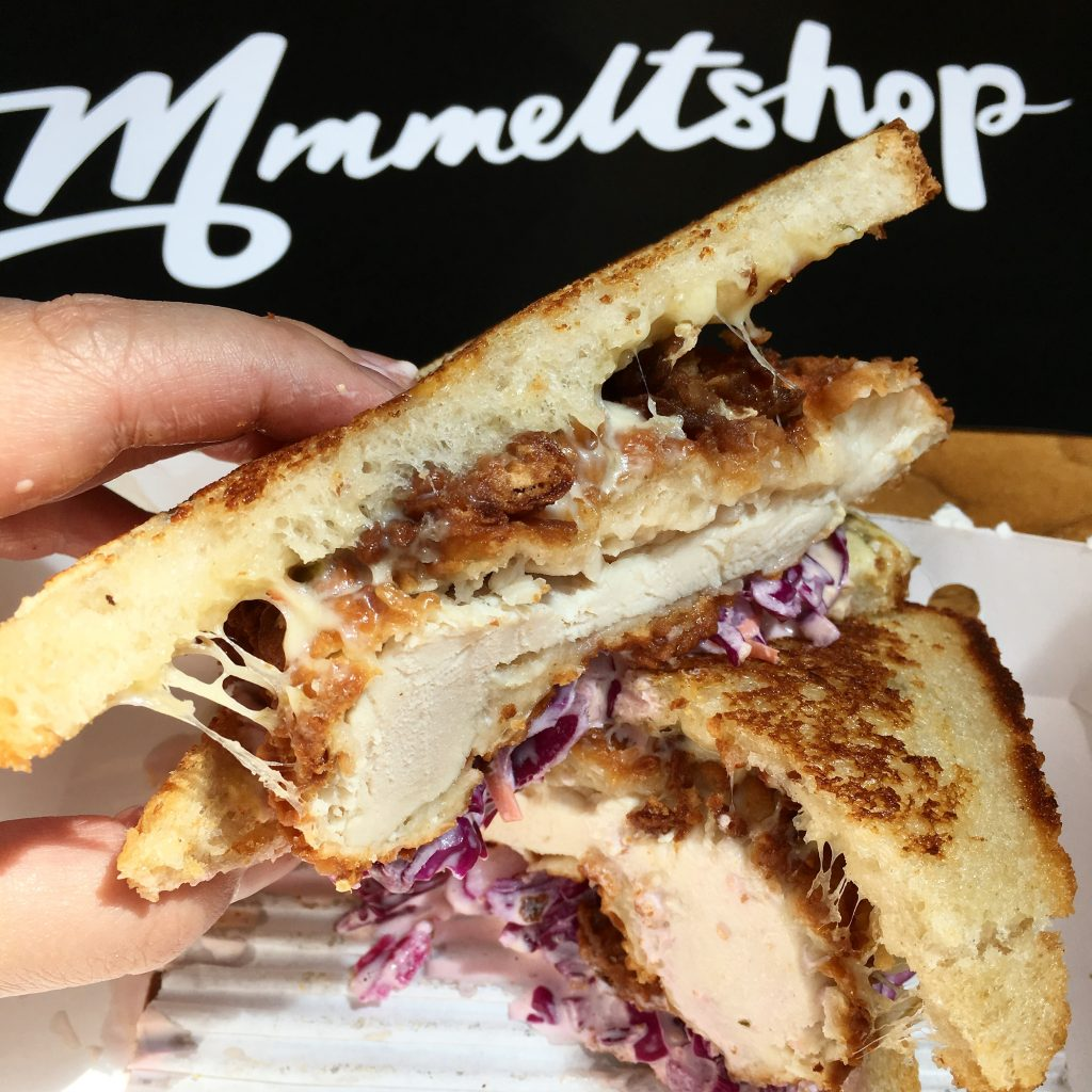 The Signature Fried Chicken sandwich from the Melt Shop.