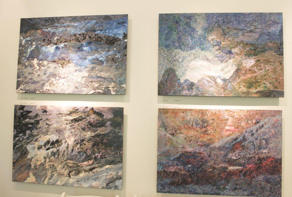 Artist Rosalind Schneider's exhibit Transformed Realities at the Hammond Museum.