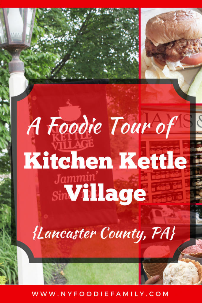 A foodie tour of Kitchen Kettle Village in Lancaster County Pennsylvania.